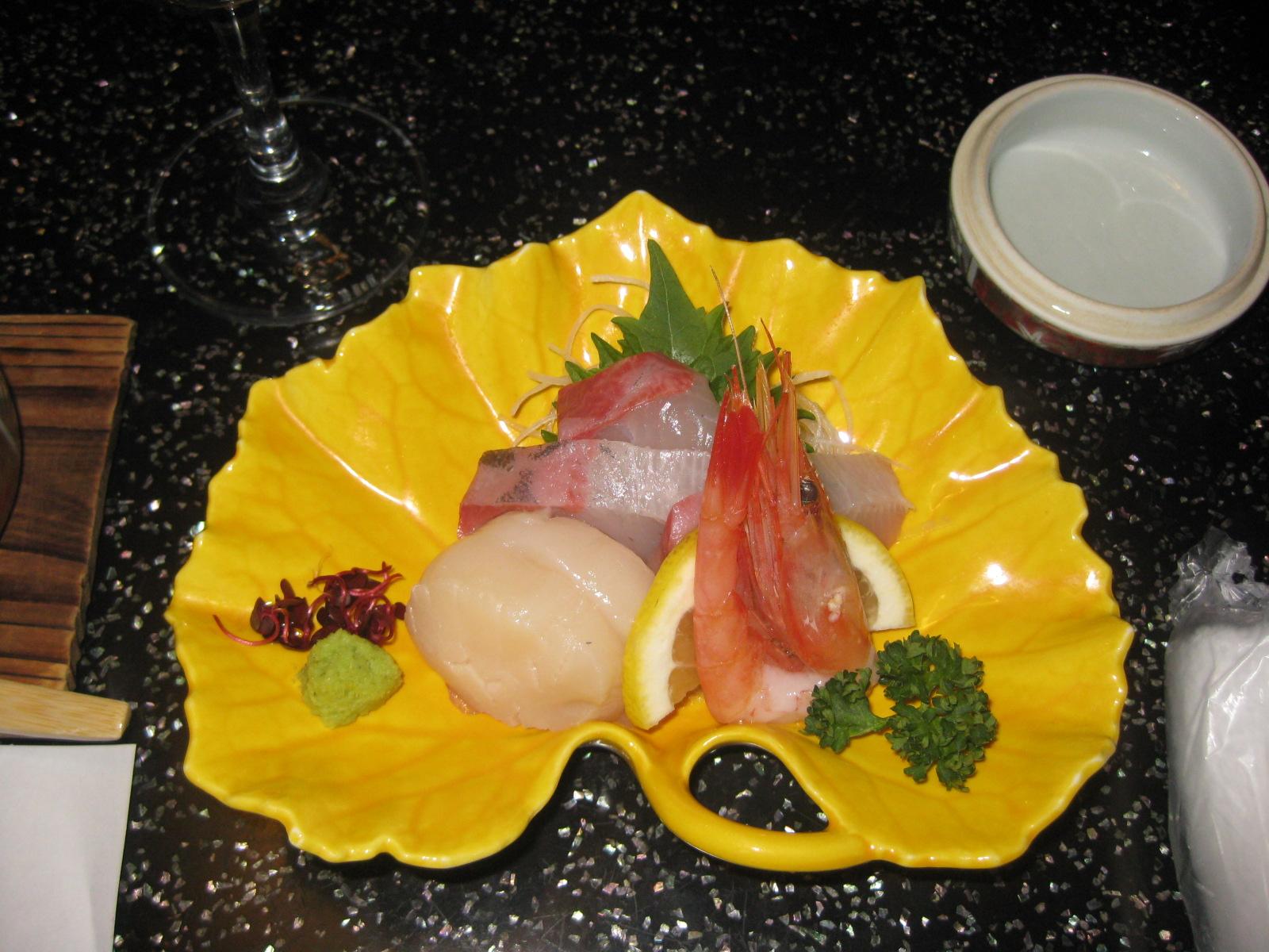 Una cena Giapponese.