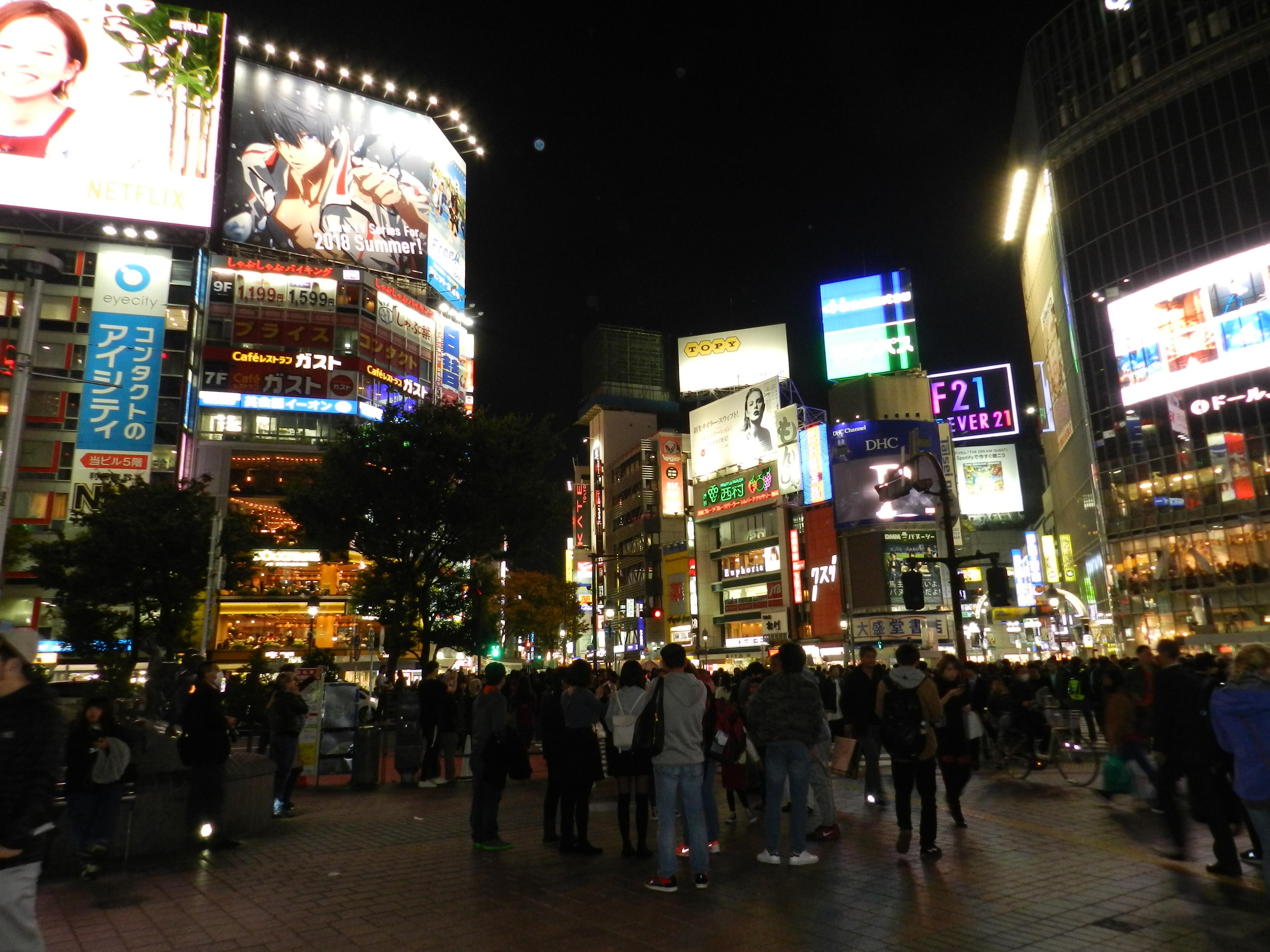 Shibuya, l'incrocio più famoso di Tokyo.