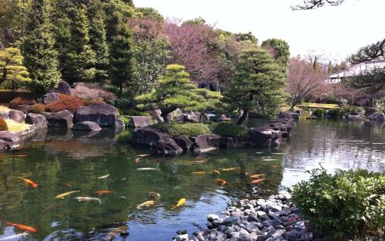 Giardini Koko-en in primavera.