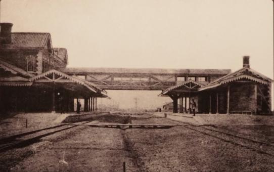 1874, la prima Stazione dei Treni di Osaka
